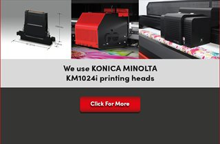 We use KONICA MINOLTA KM1024i printing heads